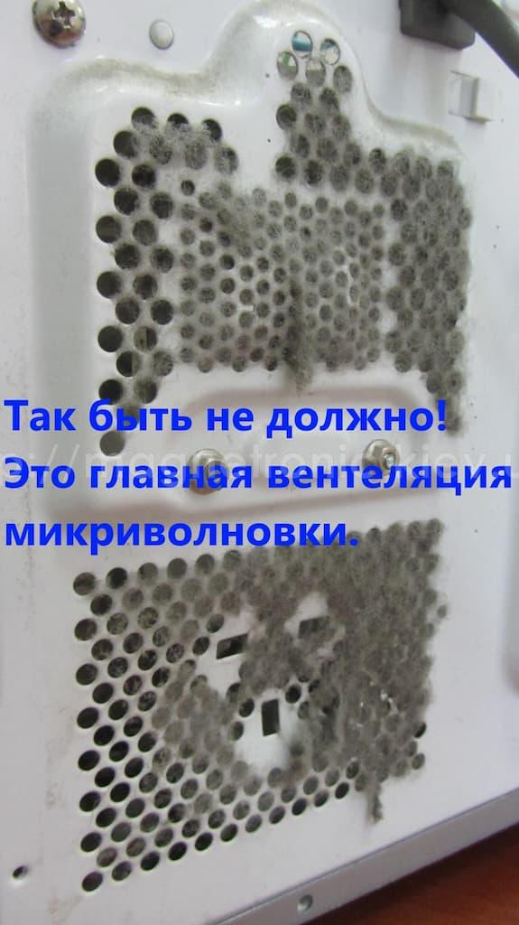Решетки вентиляции необходимо держать в чистоте